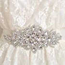 Crystal Bridal Sash-Rhinestone waist Sash-Wedding applique Dress Belt HR320