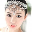 Bridal Rhinestone crystal dangle Topknot Maang tikka deco Headpiece HR301