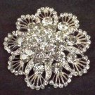 Bridal Cake topper dress Czech decoration crystal Rhinestone Brooch pin Pi577