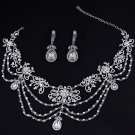 Elegant Huge Bridal crystal Rhinestone shoulder deco Bra bib necklace NR472