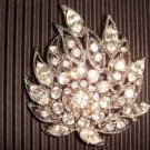 Bridal Czech Crystal Vintage style cake topper Rhinestone Brooch pin PI25