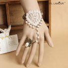 Sexy Belly dance lace Bohemian gothic heart  flower Slave Bracelet BR385