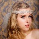 Bridal Rhinestone trim sash applique accessory headband Prom Tiara HR315