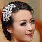 Bridal Rhinestone Crystal Flower Headpiece headwear Hair tiara Comb RB633