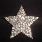 Bridal Star crystal Corsage Czech Rhinestone Brooch pin Pi184