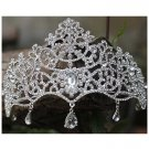 Bridal Rhinestone Queen dangle Crown forehead Maang tikka Headpiece HR335
