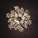 Bridal Wreath cake topper Corsage Czech Rhinestone scarf Brooch pin PI457