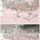 Huge Rhinestone crystal queen crown Pageant Princess Prom Tiara dangle HR271
