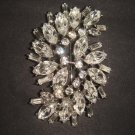 Bridal cake topper dress BLING Corsage Czech Rhinestone Brooch pin PI463