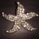 Bridal Starfish crystal Corsage Czech Rhinestone Brooch pin Pi205