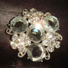 Bridal Czech Corsage Crystal cake topper dress Rhinestone Brooch pin Pi213