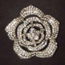 Bridal Tiny rosette crystal Corsage Czech Rhinestone Brooch pin PI467