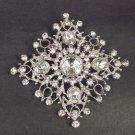 Bridal Corsage Czech Crystal sqaure rhombus Rhinestone Brooch pin PI546