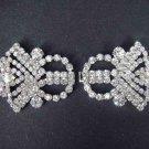 Vintage Style Czech Rhinestone clasp hook buckle button BU20