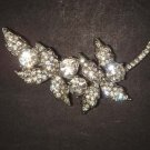 Bridal Leave Faux pearl Corsage Czech crystal Rhinestone Brooch pin PI479