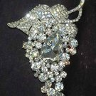 Bridal grape Corsage Czech Rhinestone Brooch pin PI501