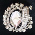 Bridal vintage style crystal  Corsage Czech Rhinestone brooch pin PI596