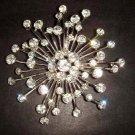 Bridal Crystal firework Corsage Czech Rhinestone Brooch pin PI216