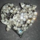 Bridal Heart Vintage Style Butterfly Corsage Czech Rhinestone Brooch pin PI50