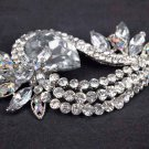 Bridal Cake topper decorating Corsage Czech crystal Rhinestone Brooch pin PI573