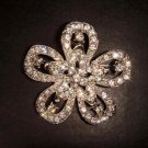 Bridal Vintage Style Corsage Czech  Rhinestone crystal Brooch pin Pi162
