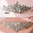 Bridal Rhinestone Crystal Prom Crown flower Hair tiara HR267