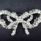 Bridal Bow Corsage scarf decoration crystal Czech Rhinestone Brooch pin PI426