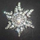 Bridal dress scarf decoration Corsage Czech Rhinestone Brooch pin PI415