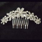 Bridal Crystal Rhinestone Headpiece Flower Hair tiara Comb RB660