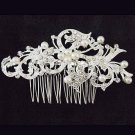 Bridal vintage style Rhinestone Headpiece Faux pearl Hair prom dance Comb RB649