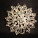 Bridal Vintage style Bling Corsage Czech Rhinestone Brooch pin PI223