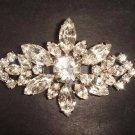 Bridal bling Corsage Vintage style crystal Czech Rhinestone Brooch pin PI277