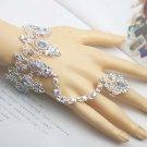 Bridal Rhinestone A B cystal silver tone slave Bracelet NR322