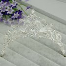 Bridal Rhinestone crystal crown hair forehead band Headpiece HR347