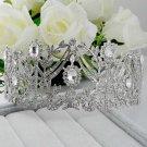 Huge Bridal Rhinestone Queen princess dangle Crown Headpiece HR354