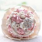 20 cm HANDMADE Wedding Brooch Bouquet Artificial Flower Faux pearl Posy WB13