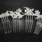 Bridal Rhinestone crystal silver tone clear Hair Comb RB297