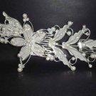 Bridal Rhinestone Headpiece Flower Faux pearl Crystal Hair tiara Comb RB35