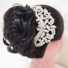 Bridal dance Rhinestone Flower headpiece Princess Prom Tiara comb RB652