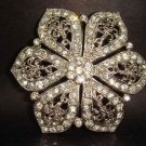 Bridal Vintage Style Crystal cake dress topper Rhinestone Brooch pin PI129