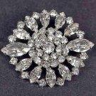 Bridal crystal dress scarf decoration Czech Rhinestone Brooch pin Pi562
