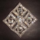 Wedding Rhombus Vintage style cake scarf decoration Rhinestone Brooch pin PI259