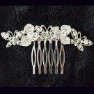 2 pcs Bridal Crystal Rhinestone Headpiece Butterfly Hair tiara Comb RB657