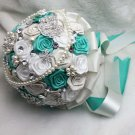 22 cm Bridal Brooch Bouquet Artificial Flower Faux pearl Posy WB16