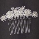 2 pcs Bridal Rhinestone Crystal Prom butterfly Headpiece Hair tiara Comb RB551