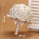 HANDMADE 25 cm Wedding Brooch Bouquet Artificial Flower Faux pearl Posy WB13