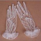 Bridal prom sexy Lace  white black Wrist Gloves S38