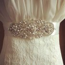 Faux Pearl Bridal Sash Rhinestone waist Sash Wedding applique Dress Belt HR405