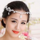 Bridal Rhinestone crystal prom hair chain forehead band Headpiece HR374