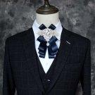 Bridal groom MC Rhinestone Shimmer Bow Tie Clip pin ribbon elastic band BA218